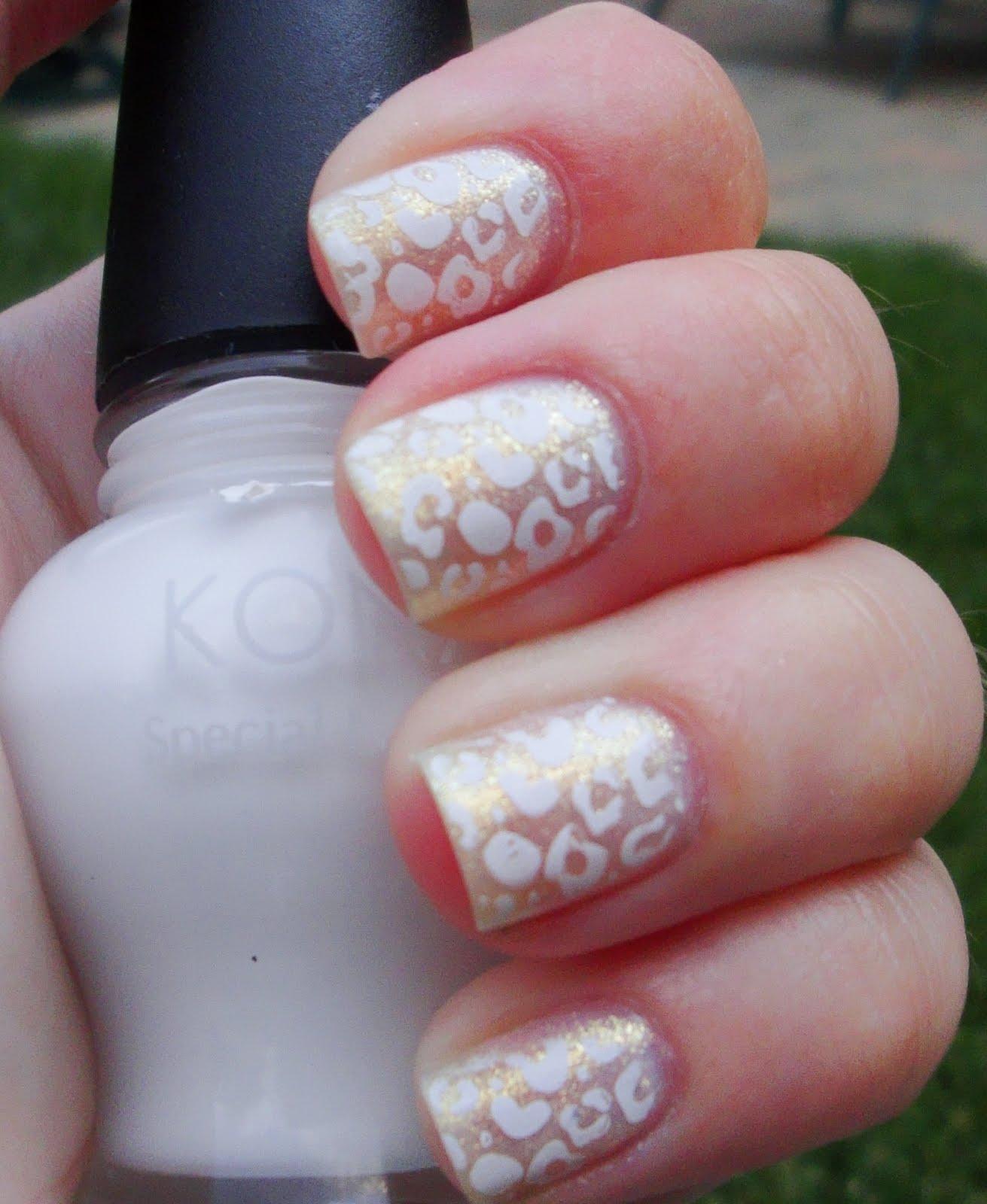 Diy Snow Leopard Nail Art: Leopard Print Pattern (Snow Leopard)