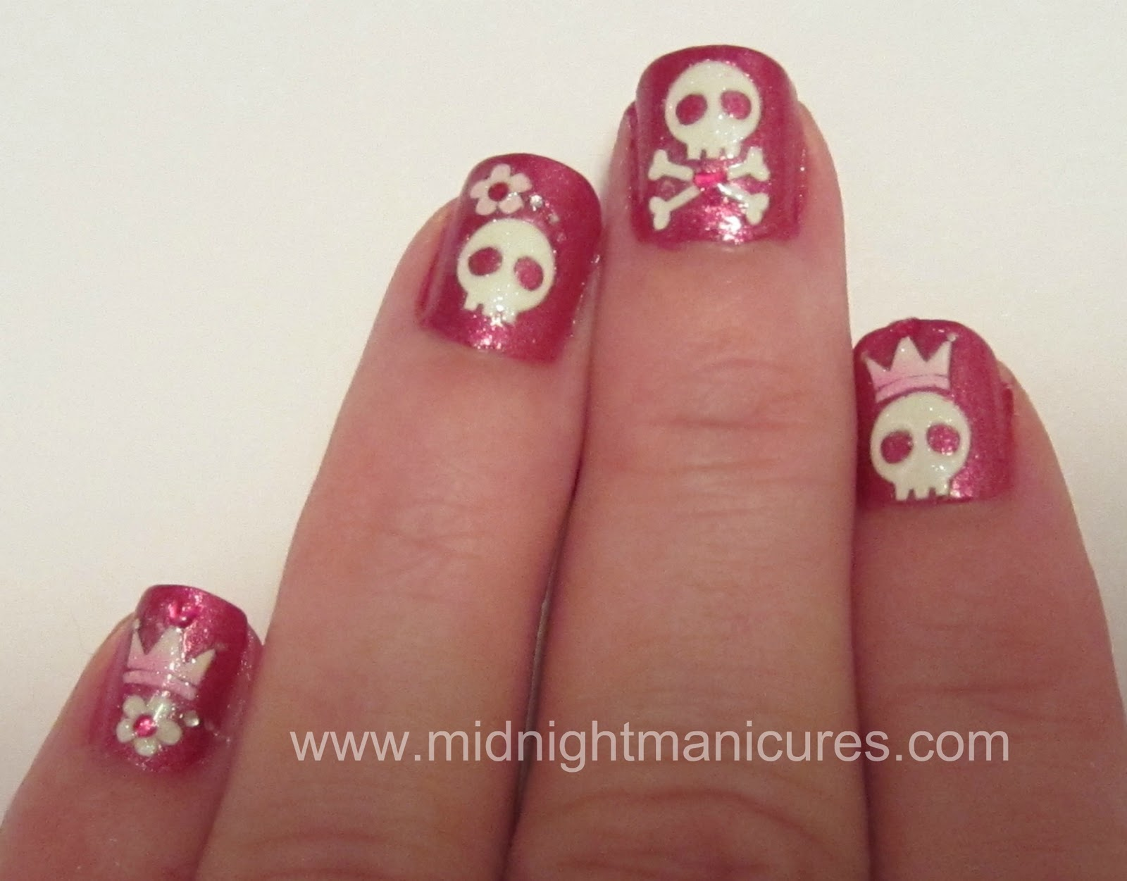 Halloween Manicure with Island Girl Color Changing Polish and ...